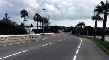 Repintat marques viàries urbanitzacions de Ciutadella