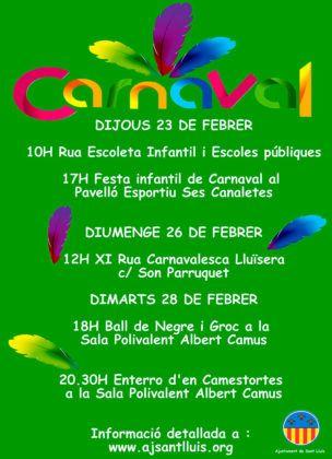 Cartel Carnaval Sant Lluís