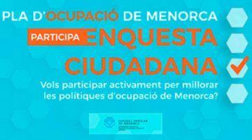 Oberta la participació al Pla d'Ocupació de Menorca