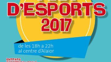 Unes 26 entitats en la Fira d'Esports 2017 d'Alaior