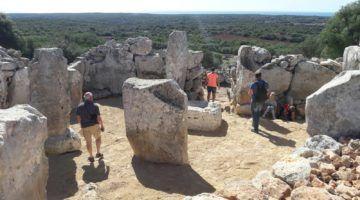 Tasques de restauració a la Torre d'en Galmés
