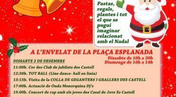 Es Castell enceta el Nadal amb el tradicional mercat