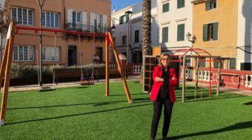 Nova imatge del parc infantil de la Plaça Nova d'Alaior