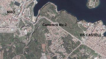 El Consell licita l'asfaltat de la carretera Maó a Es Castell