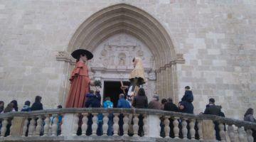 Els gegants d'Alaior participen a la Missa Major
