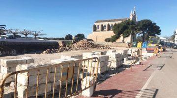 Obres de millora de la Plaça Sant Gaietà de Llucmaçanes