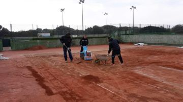 El Club Tenis Mahón renueva todas las pistas