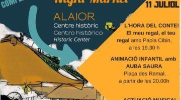 Música per a nens i adults en el Mercat de Nit d'Alaior