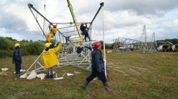 Red Eléctrica trabaja en la 2ª torre de alta tensión